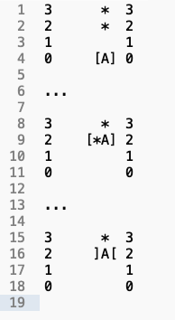 ascii printout of lift moving from floor 0 to 2 and opening the doors